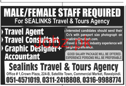 Male / Female Travel Agents, Travel Consultants Wanted
