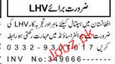 Lady Health Visitors LHVs Job in Hospital