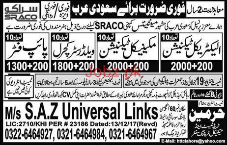 Electrical Technicians, Mechanical Technicians  Wanted