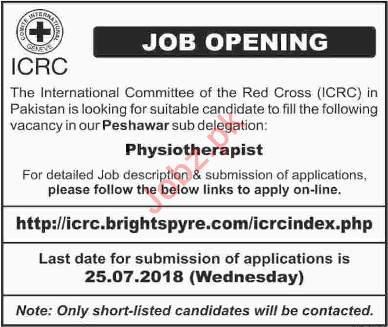 The Insternational Committee of the Red Cross ICRC Jobs