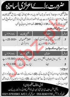 Federal Directorate of Education FDE Kharian Cantt Jobs 2018