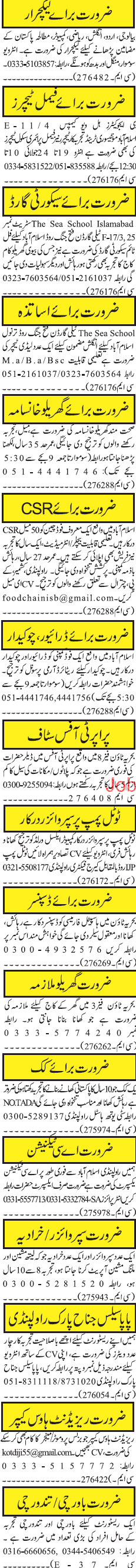 Male / Female Lecturers, Male / Female Teachers Wanted