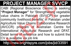 Project Manager SVVCP at CABI