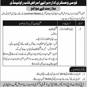 Armed Forces Institute of Cardiology AFIC Jobs