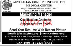 Australian Concept Infertility Medical Center Jobs