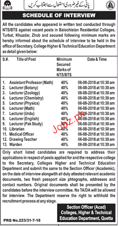 College Higher & Technical Education Department Jobs