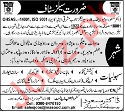 Dr Masood Homoeopathic Pharmaceuticals Sales Staff Jobs