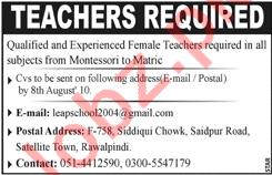 Teachers for Leap School