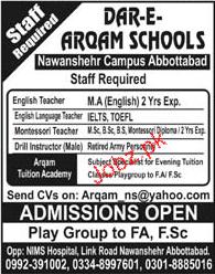 Dar e Arqam Schools Jobs Teachers Jobs