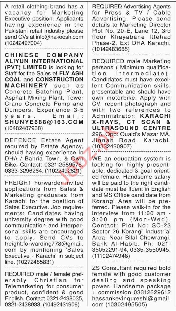 Marketing Staff Jobs Opportunity in Karachi 2018