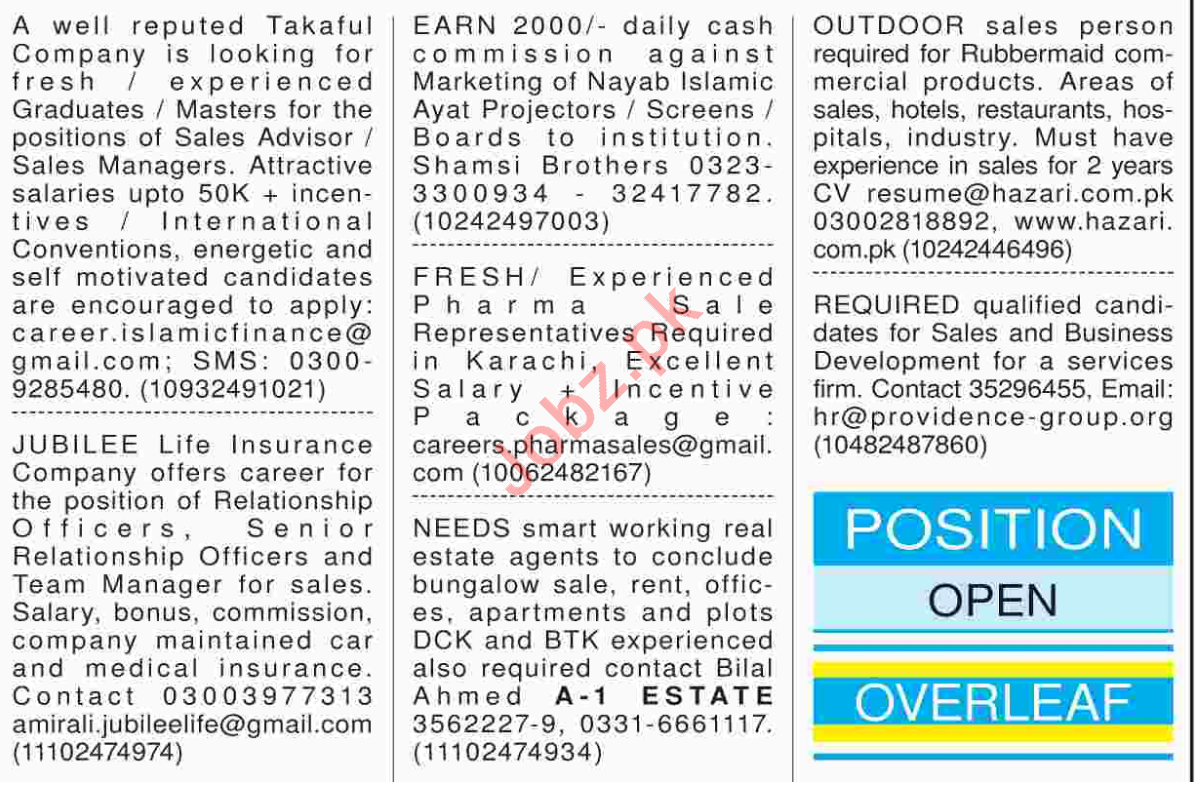 Sales & Marketing Staff Jobs 2018 in Karachi