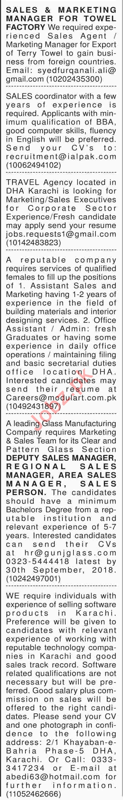 Marketing Executive, Manager, Assistant Manager Jobs