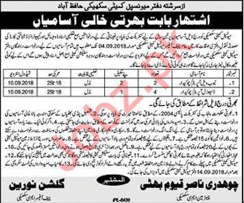 Municipal Committee Hafizabad Jobs 2018