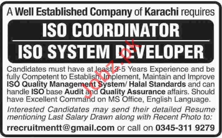 ISO Coordinator Required
