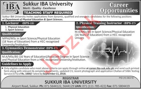 Teaching Staff for Sukkur IBA University