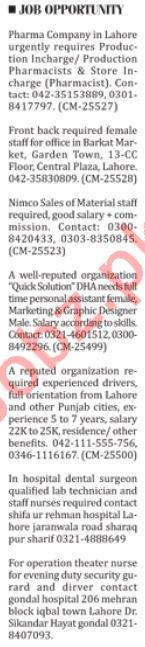 Paramedical Staff Jobs Career Opportunity in Karachi