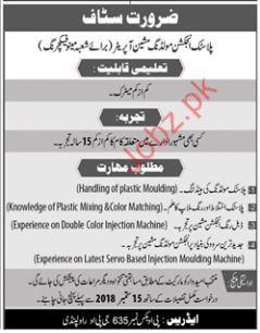 Molding Machine Operator Jobs in Private Company