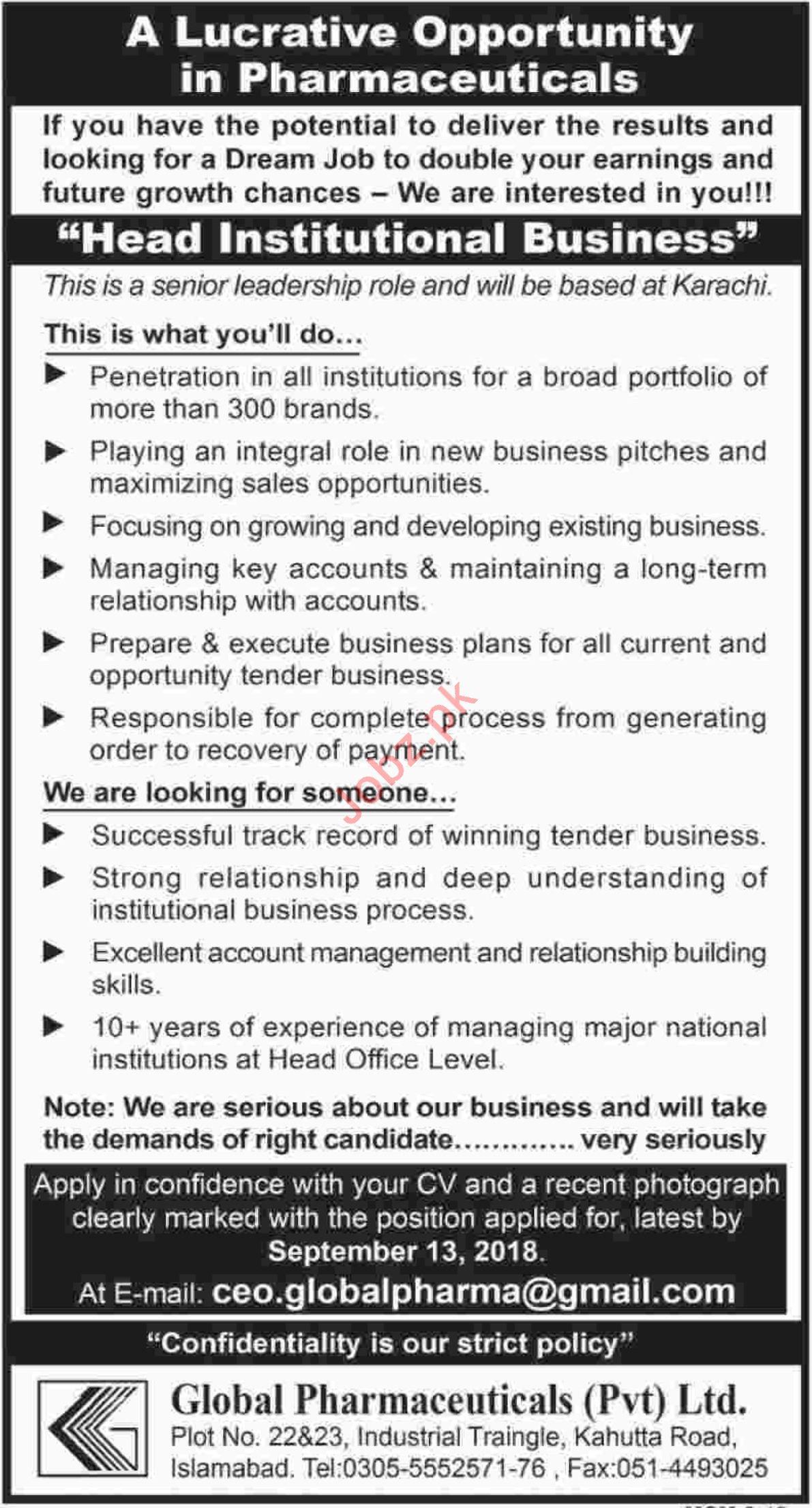 Jobs at Global Pharmaceuticals Pvt Ltd