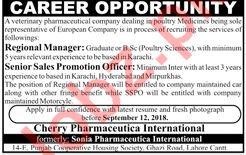 Regional Manager & Sr Sales Promotion Officer Jobs 2018