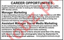 Managers for PKG International Pvt Ltd