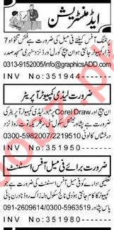 Computer Operator and Assistant Required