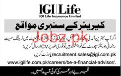 Sales Staff Job in IGI Life Insurance Limited Company