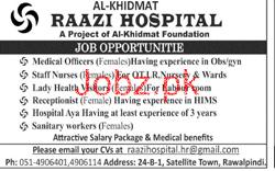 Al Khidmat Raazi Hospital Medical Jobs