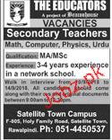 The Educators Satellite Town Campus Teachers Jobs