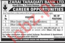 ZTBL Bank Islamabad Jobs 2018 for Deputy Manager Operations