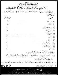 Deputy Commissioner Poonch Rawalakot Jobs 2018