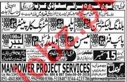 Electrician, Plumbers, Carpenters, Pipe Fitters, Labors Jobs