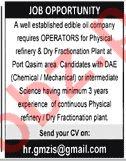 Operators for Oil Company