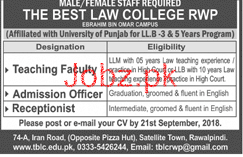 The Best Law College Teaching Jobs