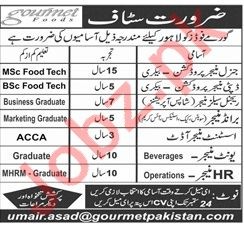 Gourmet Foods General Manager Production Jobs
