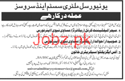 Universal Military System and Services Jobs