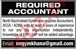 Accountant for Gymkhana