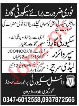 Security Jobs 2018 For Mardan KPK