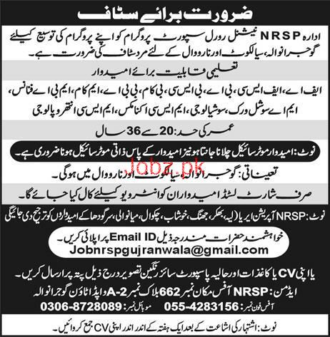 Male / Female Staff Job in NRSP
