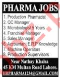 Production Pharmacist Job Opportunities