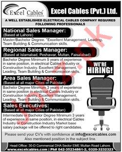 Excel Cables Pvt Ltd National Sales Manager Jobs
