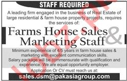 Sales and Marketing Staff for Pak Asia Group