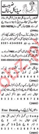 Nawaiwaqt Sunday Classified Ads for Paramedical Staff