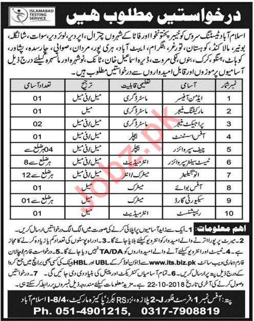 Islamabad Testing Services ITS KPK Jobs 2018