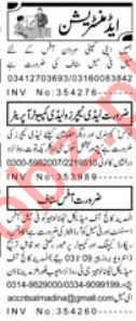 Sunday Aaj Classified Ads for Administration Staff