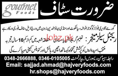 Regional Sales Manager Job in Gourmet Foods