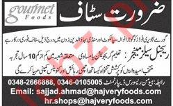 Gourmet Foods Lahore Regional Sales Manager Jobs 2018