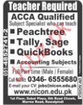 Accounts Teacher Jobs in  Nicon Institute
