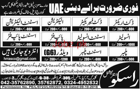 Construction Labors Jobs 2018 For Dubai UAE
