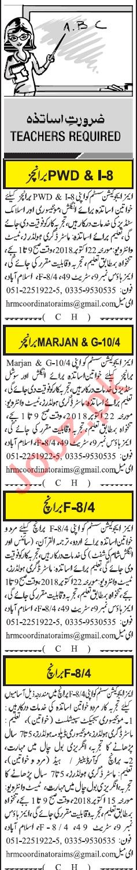 Aims Education System Islamabad Jobs for Teachers