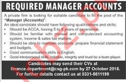 Manager Accounts for Private Company